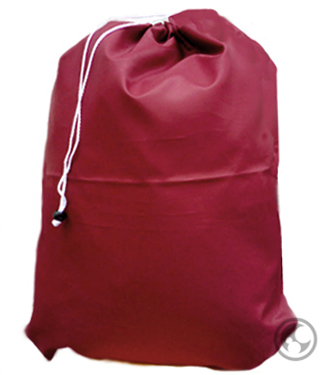 Medium Nylon Laundry Bag, Burgundy