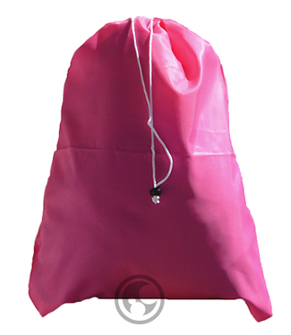 Small Nylon Laundry Bag, Fluorescent Pink