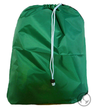 Medium Nylon Laundry Bag Green