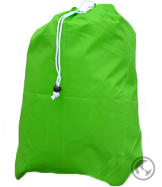 Small Nylon Laundry Bag, Lime Green