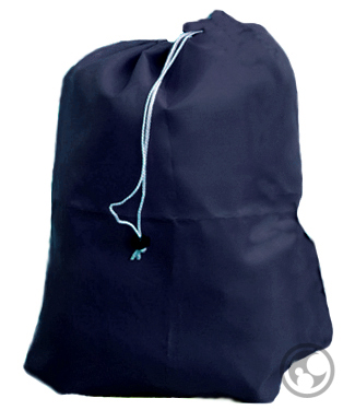 Small Nylon Laundry Bag, Navy Blue