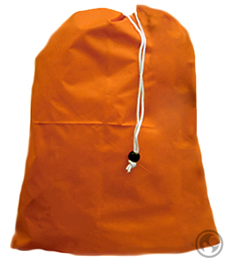 Medium Nylon Laundry Bag, Orange