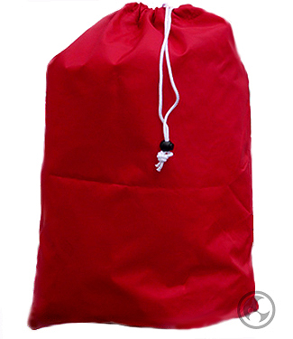 Small Nylon Laundry Bag, Red
