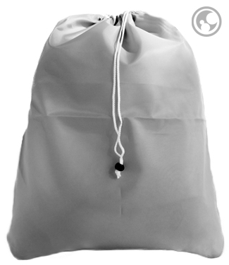 Small Nylon Laundry Bag, Silver