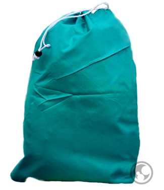 Medium Nylon Laundry Bag, Teal