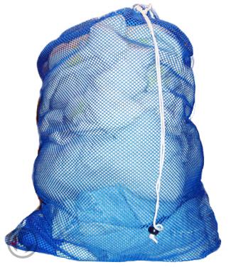 Large Mesh Laundry Bag Blue