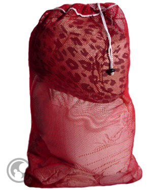 Large Mesh Laundry Bag Red
