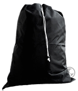 Click to view Large Nylon Laundry Bag, Black