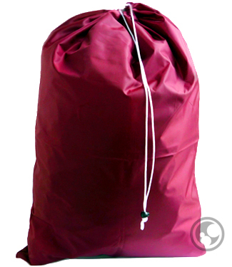 Large Nylon Laundry Bag, Burgundy