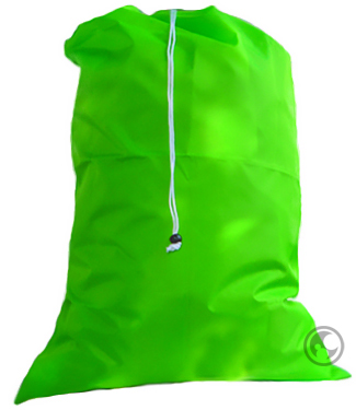 Large Nylon Laundry Bag, Lime Green
