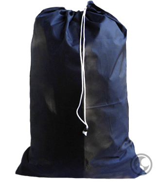Large Nylon Laundry Bag, Navy Blue
