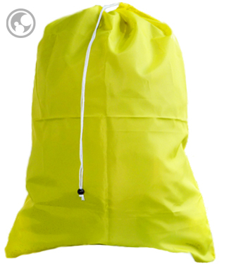Large Nylon Laundry Bag, Yellow