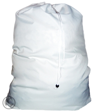 Large Poly Cotton Laundry Bag, White