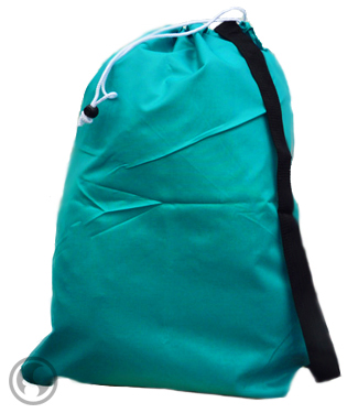Large Laundry Bags Teal Strap Drawstring