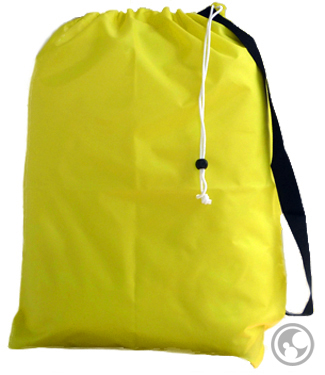 Small Nylon Laundry Bag with Strap, Yellow