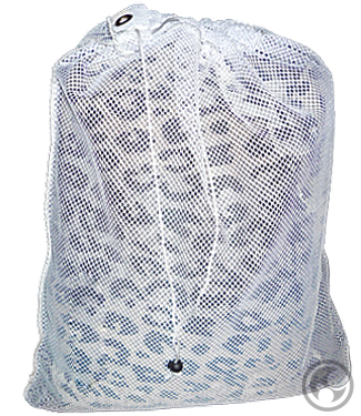 Small Mesh Laundry Bag, White